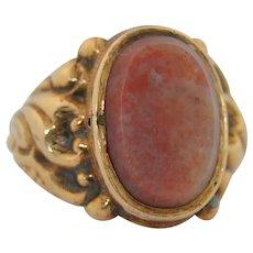 Georgian 14K Poison Agate Ring
