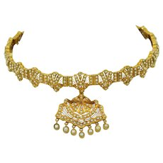 18K & Seed Pearl Victorian Collar Necklace