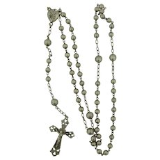 Antique French Sterling Silver Rosary