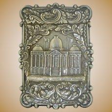 Art Nouveau Sterling Silver US Capitol Card Case American
