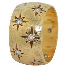 10.4 mm Wide 14K Diamond Gypsy Eternity Band Ring
