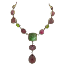 Lilia Lopez 1000 Silver & Tourmaline Necklace