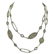 "Vintage John Hardy Basket Bamboo 36"" Chain Station Necklace"