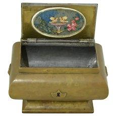 1832 Victorian Tea Caddie Chest Casket