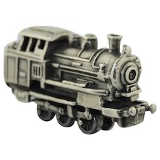Sterling Silver Articulated Steam Engine Train Miniature