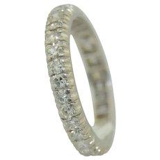 Art Deco Platinum & Diamond Eternity Wedding Band Ring