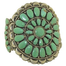 Juliana Williams, Navajo Sterling Silver & Turquoise Cuff Bracelet