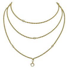 Dual Length 14K Yellow Gold & Pearl Station Necklace