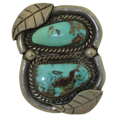 Seriously Massive Navajo Sterling Silver and Turquoise Ring