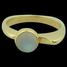 Modernist 14K Moonstone Ring