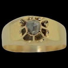 Georgian 14K Rose Cut Diamond Ring