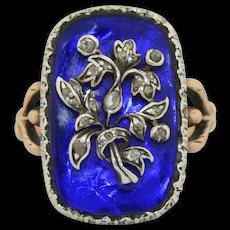 Georgian Giardinetti Baguette au Firmament Diamond Ring