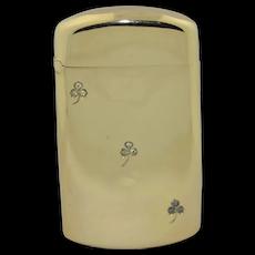 Shreve & Co. Solid 14K & Diamond Vesta Match Safe