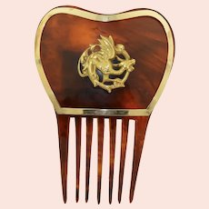 Extremely fine 14K Yellow Gold Griffin - Dragon Hair Comb