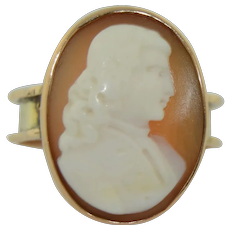 """Victorian Antique """"1877"""" 9K Cameo Ring"""