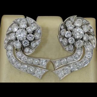 5 CTW Platinum & Brilliant Cut Diamond Earrings