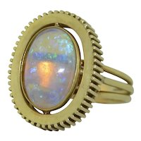 14k Retro 5.8CT Jelly Opal Ring size 9.5 U.S.