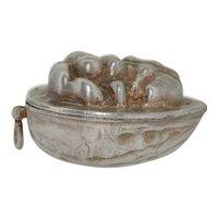 Victorian Sterling Silver Three Dimensional Walnut Pendant