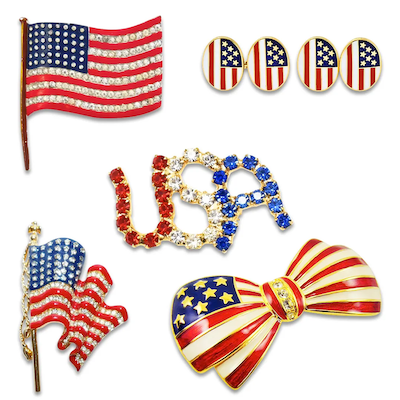 Dazzling Red, White and Blue Jewelry!
