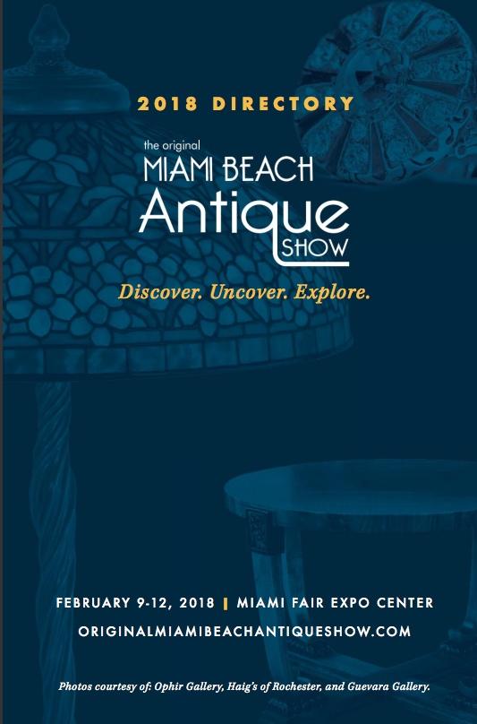 February 9, 2018, Ruby Lane Sponsors, The 2018 Original Miami Beach Antique Show image 1