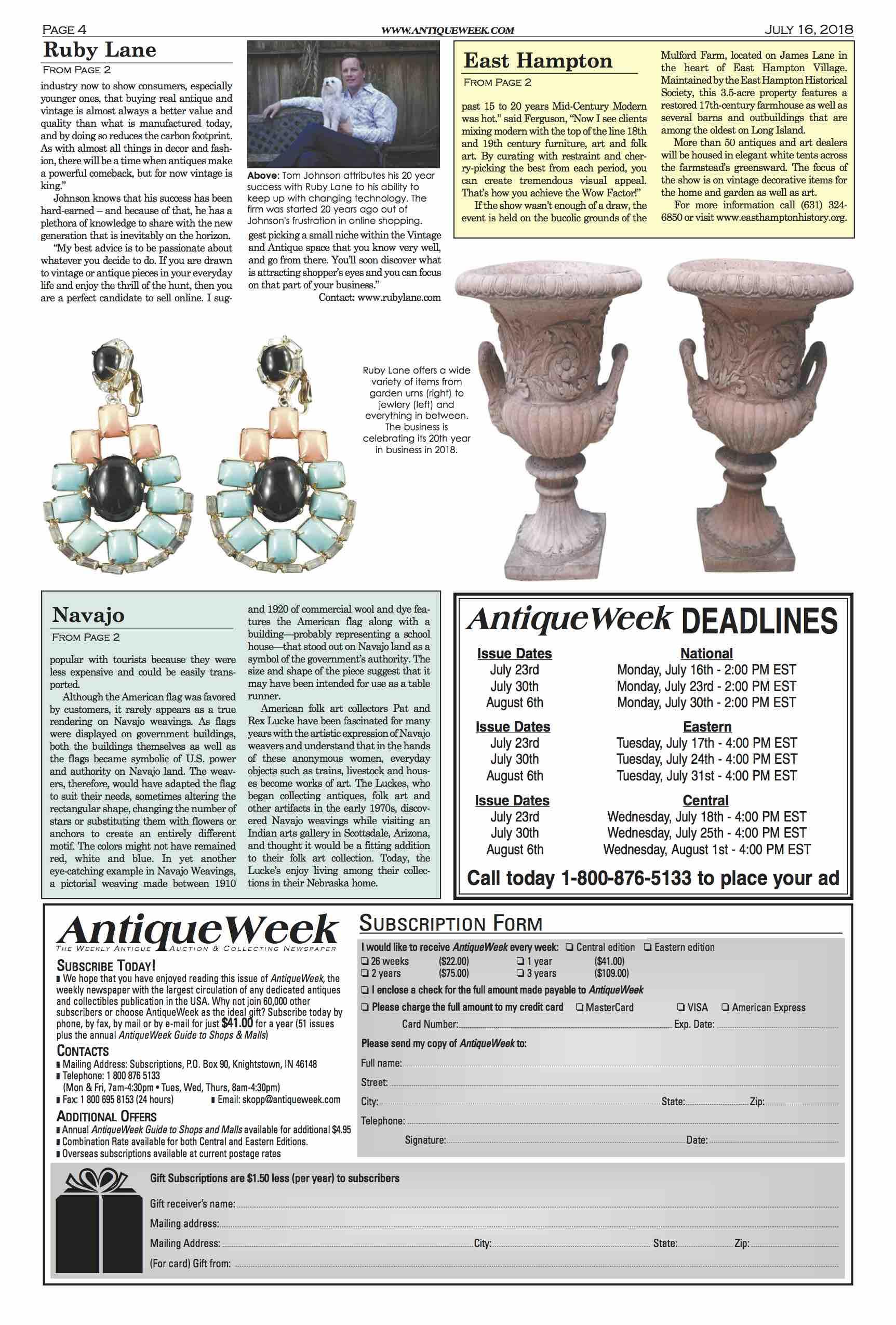 July 16, 2018, Antique Week, Ruby Lane Celebrates 20 Years image 2