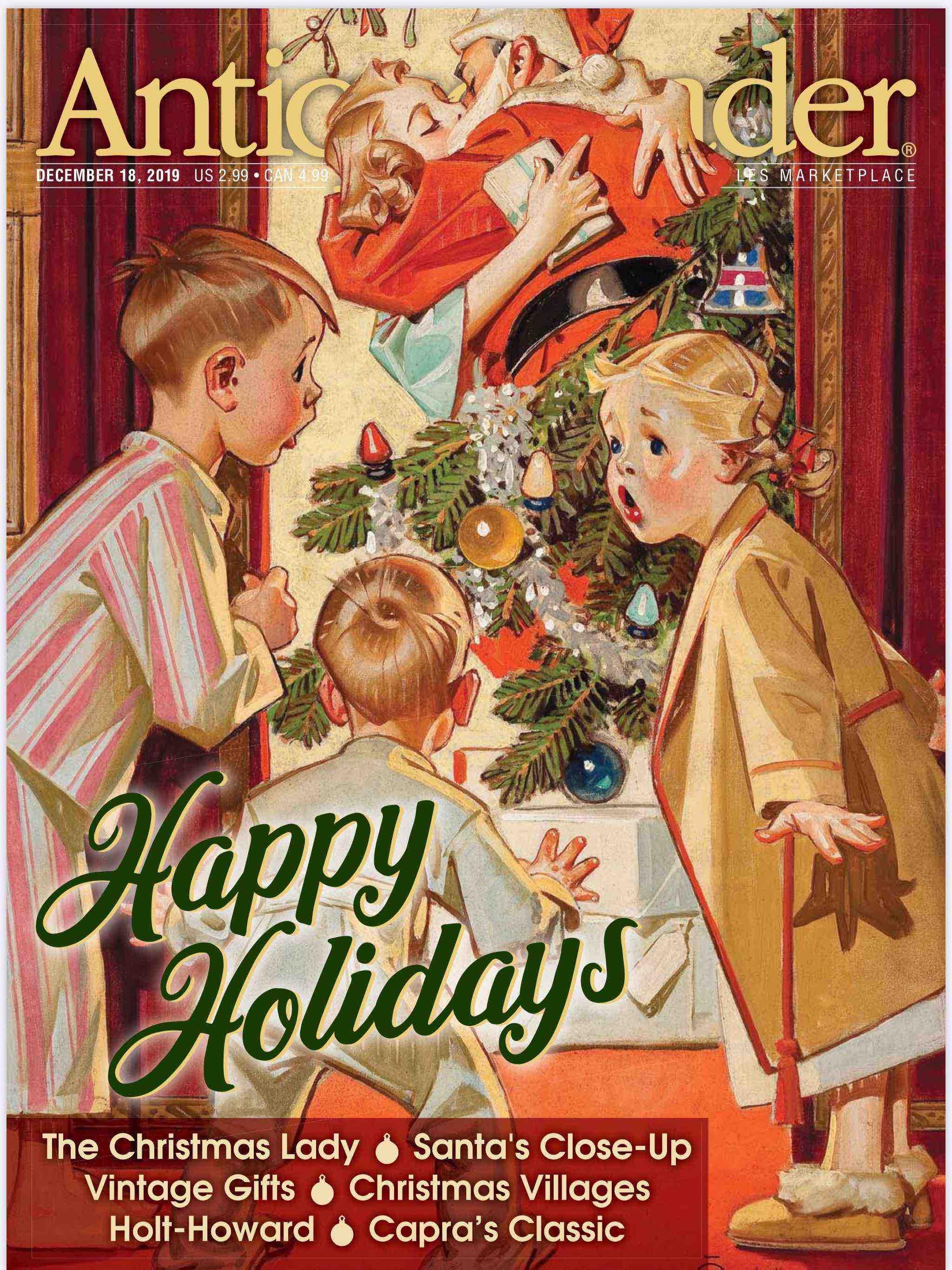 December 18, 2019, Antique Trader Magazine, Trending at RubyLane.com image 1