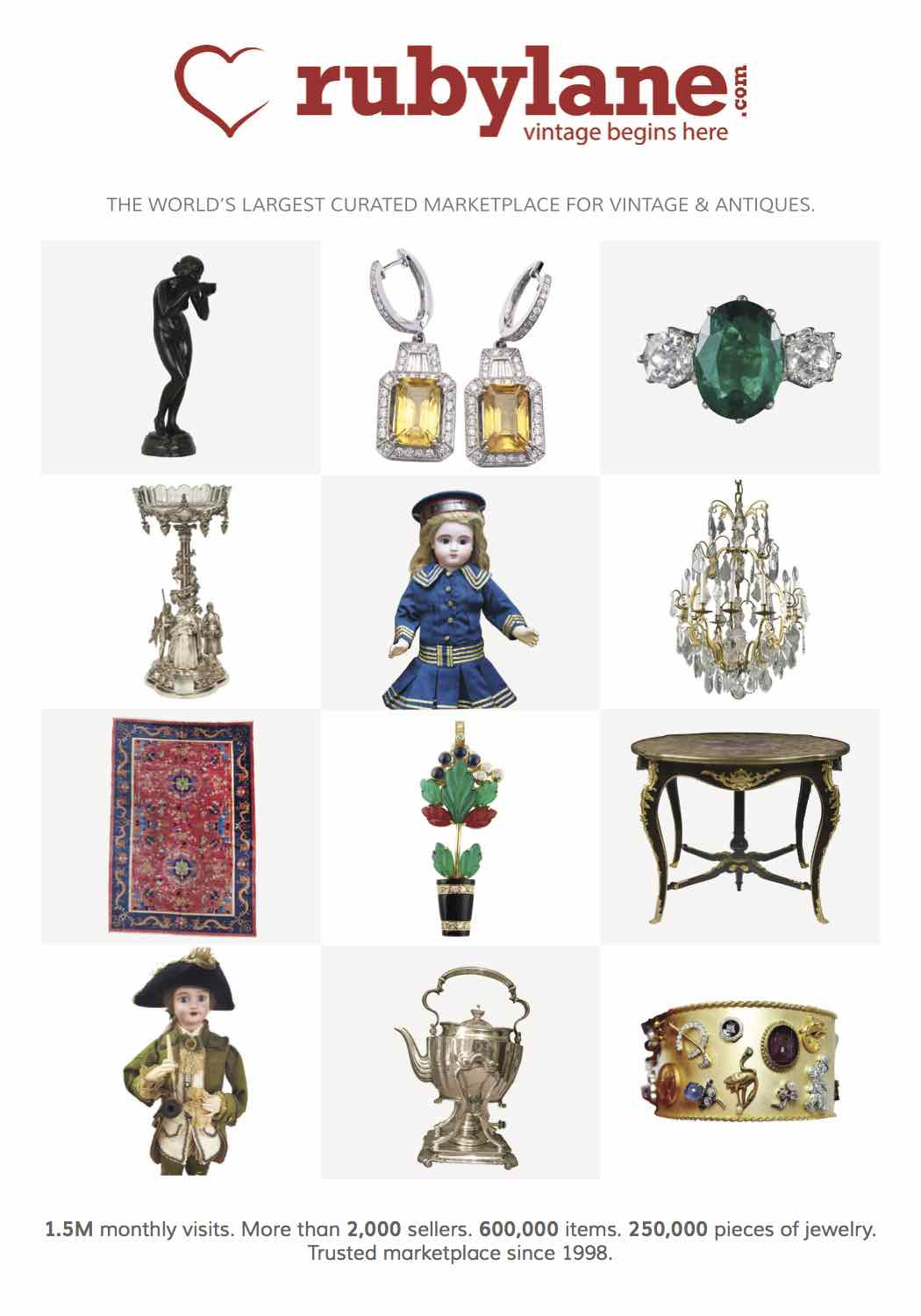 January 4, 2020, Ruby Lane Sponsors The 56th Annual Original Miami Beach Antique Show image 2