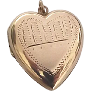 Superb antique puffy heart gold back and front locket