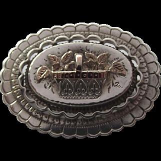 Delightful flower basket brooch made of Sterling silver