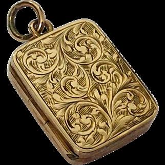 Pretty antique rose gold locket hallmarked 1902 by William Hair Hessler