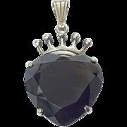 Vintage Scottish Luckenbooth silver & smokey quartz pendant