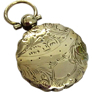 Georgian gold cased round pendant locket
