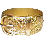 Quality Antique Victorian Wide Buckle Bangle
