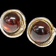 Antique Victorian 9k 9ct Gold Garnet SNAKE Earrings