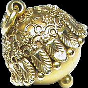 Antique Victorian 1883 15k 15ct Gold Tassel like Charm Fob Pendant