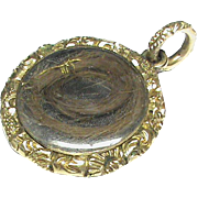 Antique 19th Century 15k 15ct Gold Filled Double Side Locket Pendant