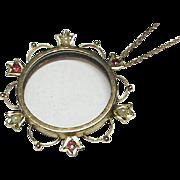 Antique Victorian c1900 9k Gold Locket Pendant