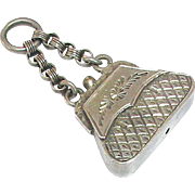 Antique Victorian Sterling Silver Handbag Charm