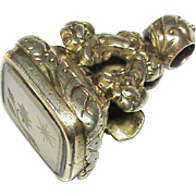 Antique Victorian Gold gilt Intaglio Seal