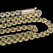 """Antique Victorian 9k Gold Chain 3.8g 17"""""""