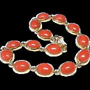 Vintage 18k Gold Coral Bracelet