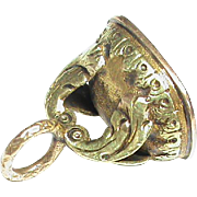 Antique Victorian 15k Bi-Color Gold SOPHY Intaglio Seal Charm