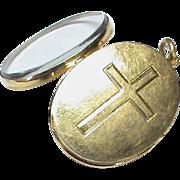 Antique Victorian 18k Gold Cross Locket Pendant
