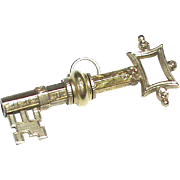 Antique Victorian Gold cased Key shaped Watch Key Fob