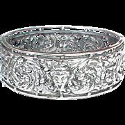 Antique Victorian Silver 800-900 DEVIL Bangle