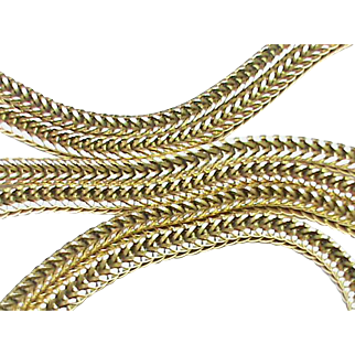 """Superior Quality Vintage French 18k Gold Chain 31.75"""" 30g"""