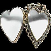 Antique Georgian 18k Gold Double Sided Heart Locket Pendant