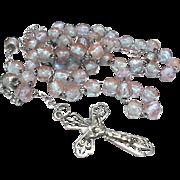 Antique Art Nouveau Saphiret Bead Rosary c1900