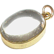 Antique Victorian 15k Gold Rock Crystal Pendant