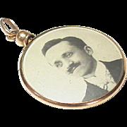 Antique Edwardian 18k Gold Double Sided Photo Locket Pendant